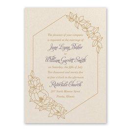 Wrapped in Elegance Ecru Invitation