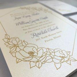 Wrapped in Elegance - Ecru - Invitation