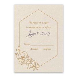 Wedding Response Cards: Wrapped in Elegance Ecru Response Card