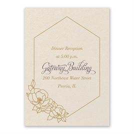 Wedding Reception and Information Cards: Wrapped in Elegance Ecru Reception Card