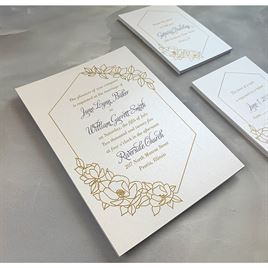 Wrapped in Elegance - White - Invitation