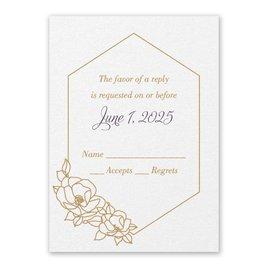 Wedding Response Cards: Wrapped in Elegance White Response Card