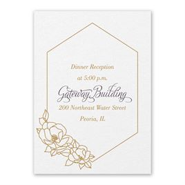 Wedding Reception and Information Cards: Wrapped in Elegance White Reception Card