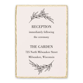Wedding Reception and Information Cards: Enchanted Reception Card