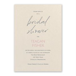 Bridal Shower Invitations: Sweet Statement Ecru Bridal Shower Invitation