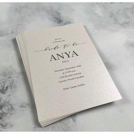 So in Love - White - Bridal Shower Invitation