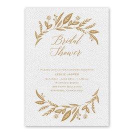 Bridal Shower Invitations: Evermore White Bridal Shower Invitation