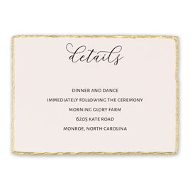 Wedding Reception and Information Cards: Adorned Reception Card