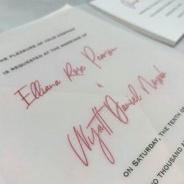 Together - Vellum Invitation