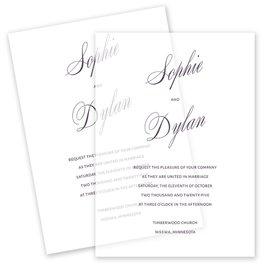 Wedding Invitations: Sheer Sophistication Vellum Invitation