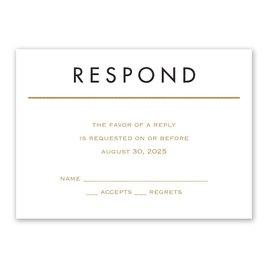 Wedding Response Cards: Framed Elegance Response Card