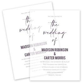 Wedding Invitations: Lovely Script Vellum Invitation