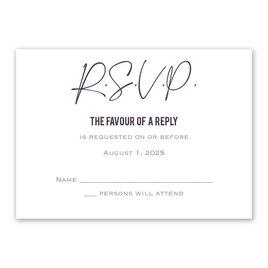 Wedding Response Cards: Lovely Script Response Card