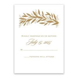 Wedding Response Cards: Gilded Greenery Response Card