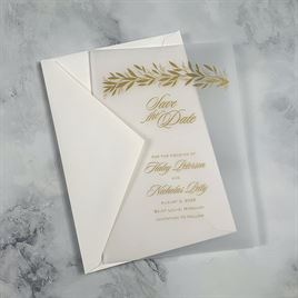 Gilded Greenery - Vellum Save the Date Card