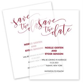 Save The Dates: Scripted Vellum Save the Date Card