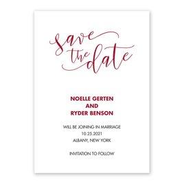 Scripted - Vellum Save the Date Card