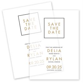 Non-Photo Save The Dates: Framed Elegance Vellum Save the Date Card