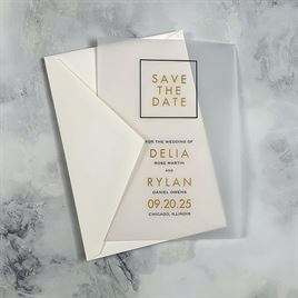 Framed Elegance - Vellum Save the Date Card