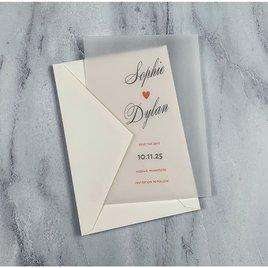In Love - Vellum Save the Date Card