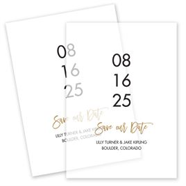 Save The Dates: Big Day Vellum Save the Date Card