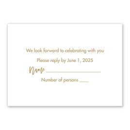 Wedding Response Cards: Radiant Response Card