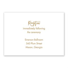 Wedding Reception and Information Cards: Radiant Reception Card