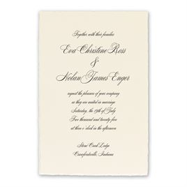 Classic Wedding Invitations: Classic Deckle Ecru Invitation