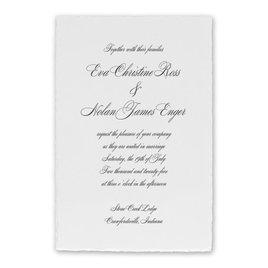 Classic Wedding Invitations: Classic Deckle White Invitation