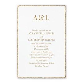 Wedding Invitations: Deckled Elegance White Invitation