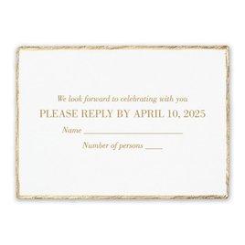 Wedding Response Cards: Deckled Elegance White Response Card