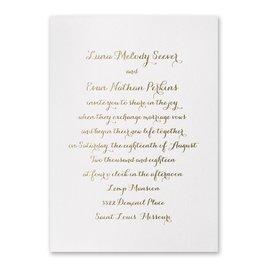 Simply Stunning - White Shimmer - Foil Invitation