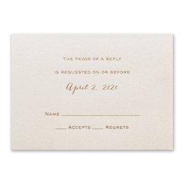 Ecru Shimmer - Foil Response Card and Envelope