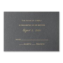 Black Shimmer - Foil Response Card and Envelope
