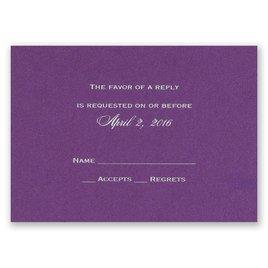 Purple Shimmer - Foil Response Card and Envelope