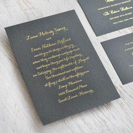 Simply Stunning - Black Shimmer - Foil Invitation
