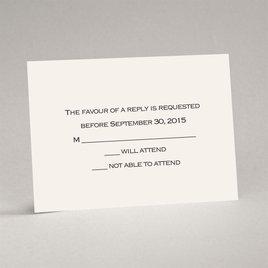 Wedding Response Cards: Ecru Response Card and Envelope