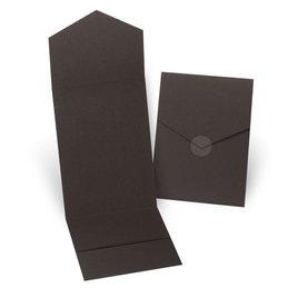 Wedding Invitation Pockets: Brown Invitation Pocket