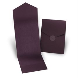 Wedding Invitation Pockets: Eggplant Invitation Pocket