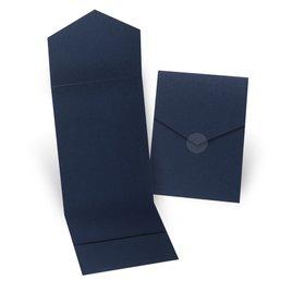 Wedding Invitation Pockets: Navy Invitation Pocket