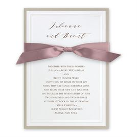 Sophisticated Border - Rose - Invitation
