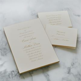 Gold Finish - Invitation