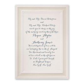 Wedding Invitations: Beautifully Framed Ecru Invitation