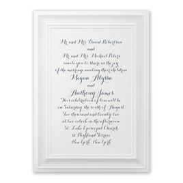 Beautifully Framed Invitation