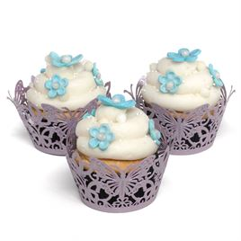 Wedding Favors: Lavender Butterfly Cupcake Wraps