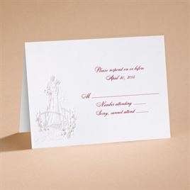 Loves Journey with Claret Accents - Respond Card and Envelope