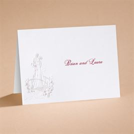 Loves Journey with Claret Accents - Note Card and Envelope