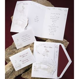 Loves Journey with Pearl Accents - Invitation
