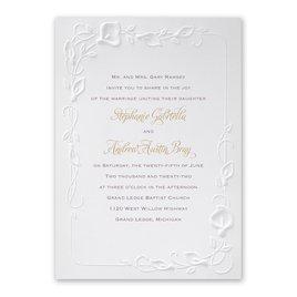 Wedding Invitations: Beautiful Border Invitation