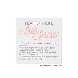 Fun Facts - White - Cocktail Napkin
